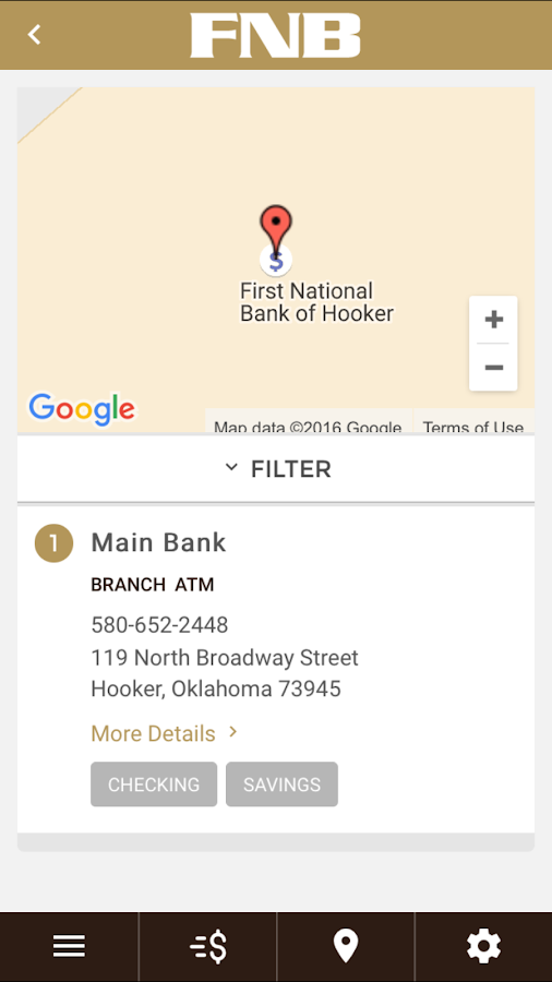 First National Bank of Hooker- screenshot