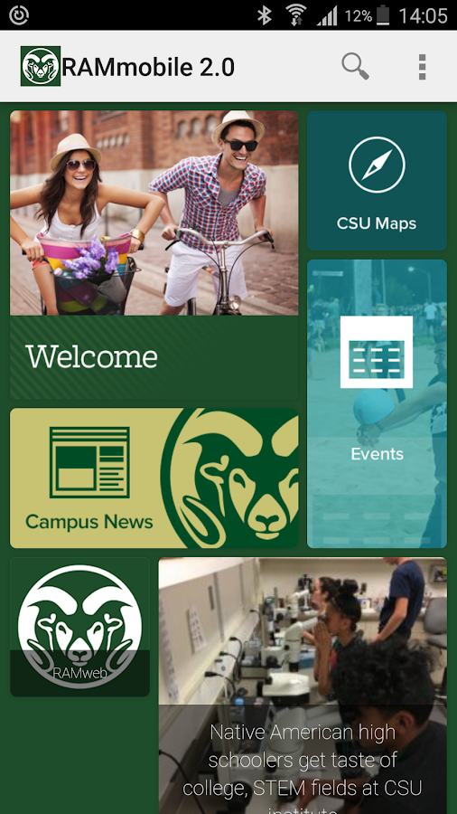 RAMmobile 2.0 - Colorado State University- screenshot