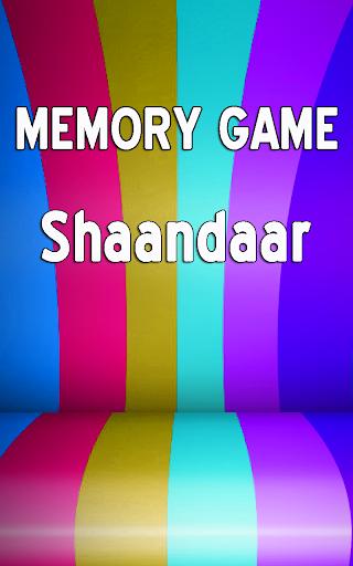 Shaandaar: Memory Games