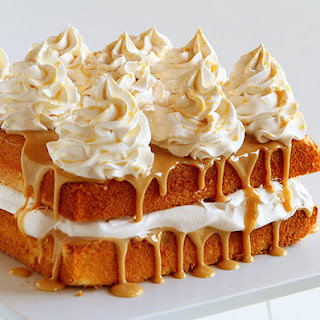 Caramel Cake With Apple Cider Whipped Cream (semi-homemade Version)