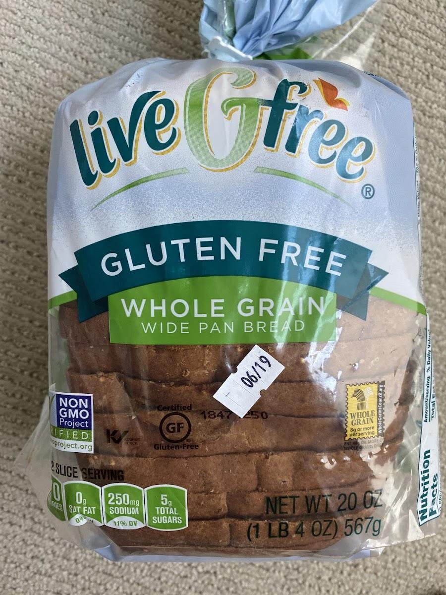 Gluten Free Whole Grain Wide Pan Bread