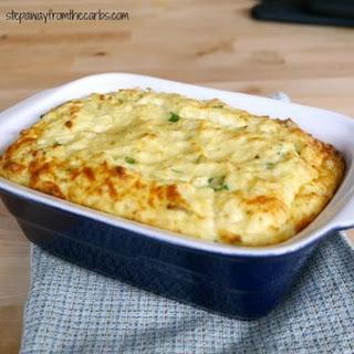 Easy Low Carb Cauliflower Souffle.