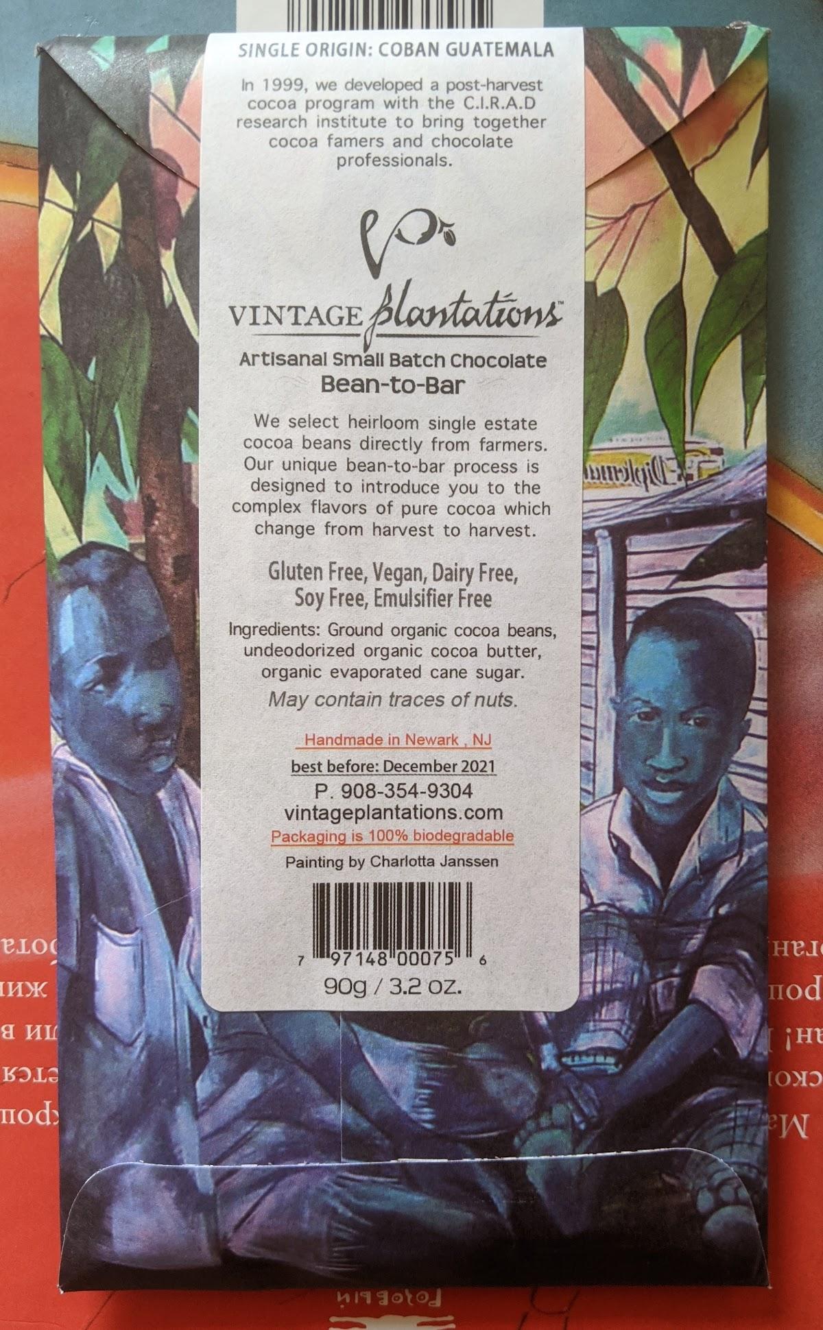 75% vintage plantations guatemala bar
