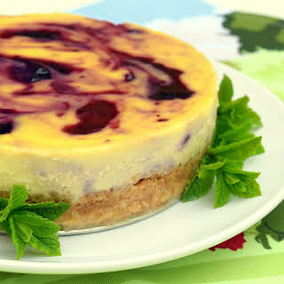 Blackcurrant And Clotted Cream Cheesecake.