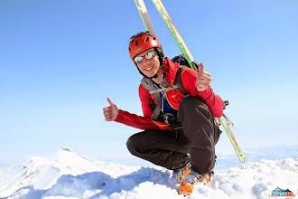 Photo: Matus on the summit of Koryaksky