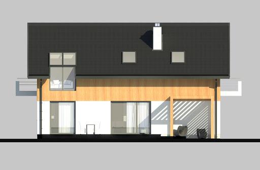 LIM House 06 - Elewacja tylna