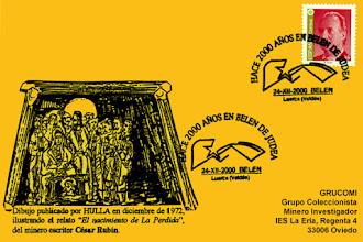 Photo: Matasellos en el pueblo de Belén en el concejo de Valdés, dos mil años después del nacimiento en Belén de Judea de Jesús.