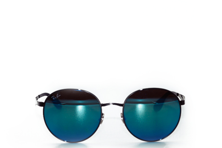 Ray Ban Round Metal Blue
