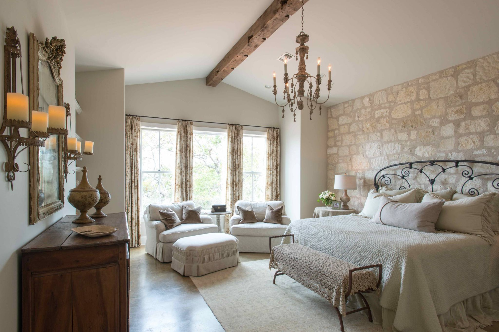 Rustic French Country Master Bedroom