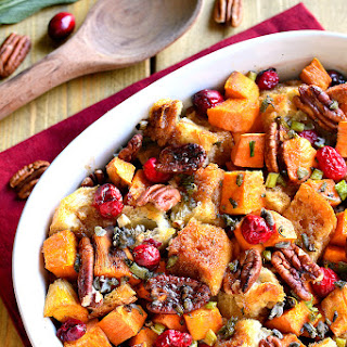 Sweet Potato Cranberry Pecan Stuffing