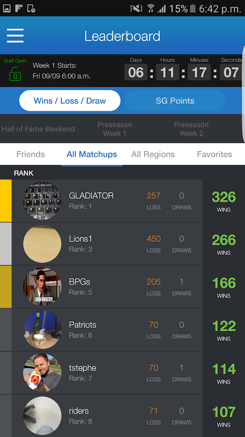 Sports Gamet Fantasy Football- screenshot