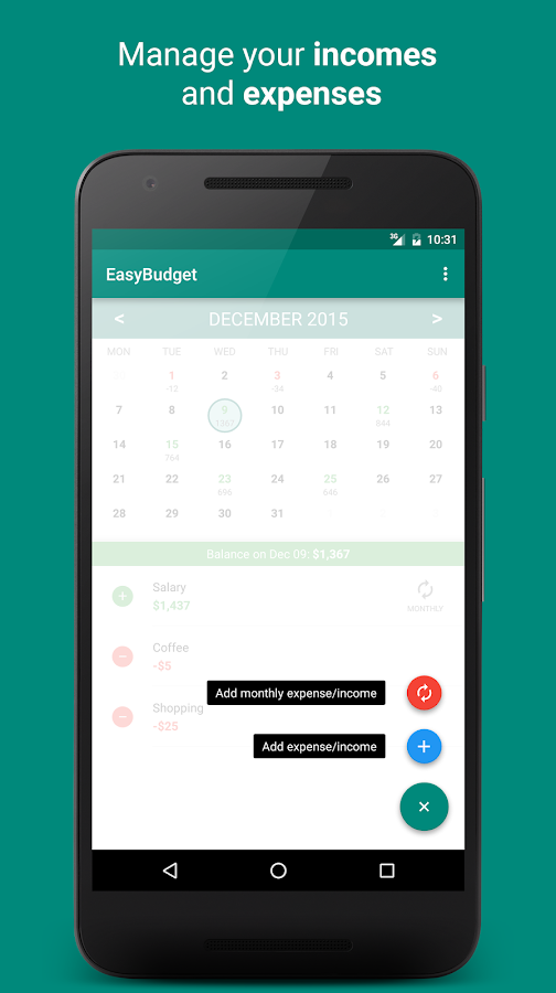 EasyBudget- screenshot