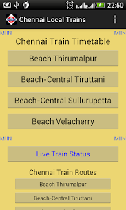 Download Chennai Local Train Timetable App for Android 1