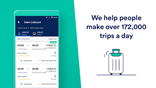 Trainline: Europe's leading train and coach app 66.0.0.36880