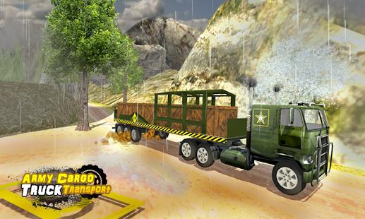 Army nákladní vůz pro přepravu - náhled
