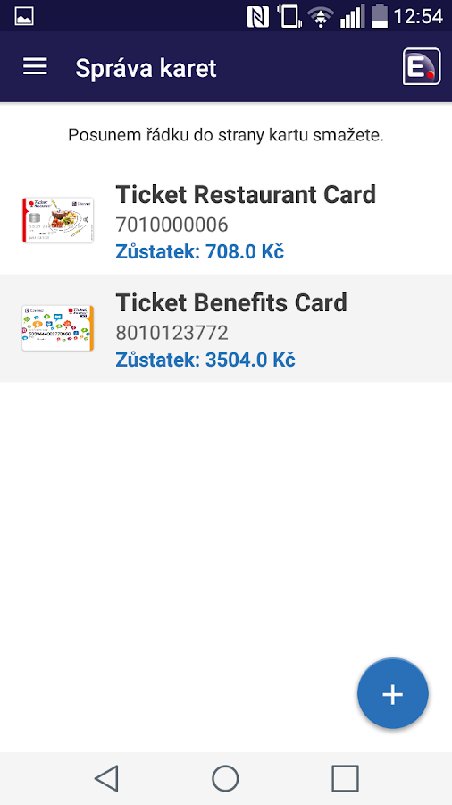 TicketCard by Edenred- screenshot