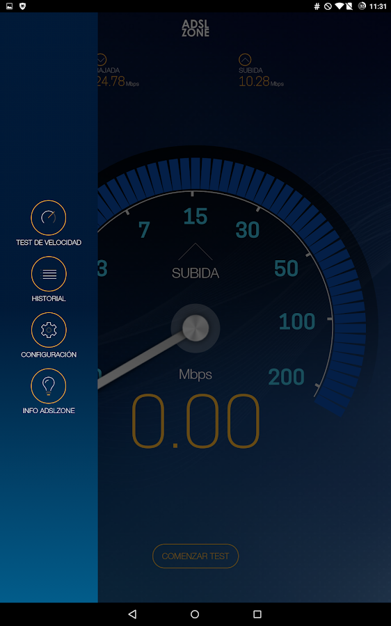 Test de Velocidad Plus- screenshot