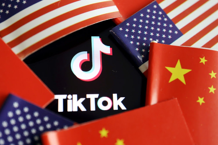 China and US flags are seen near a TikTok logo in this illustration. Picture: REUTERS/FLORENCE LO