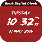 Brush Digital clock LWP free icon