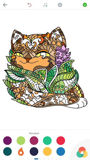 Cat Coloring Pages for Adults screenshots 3