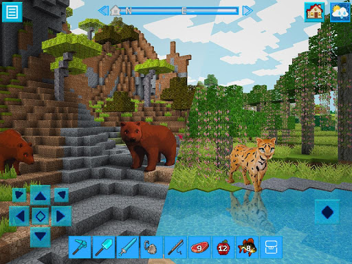 AdventureCraft: 3D Block Building & Survival Craft  7