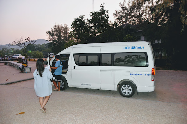 Get picked up by by minivan from your hotel in Krabi in the early morning
