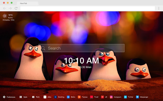 The Penguins of Madagasca New Tabs HD Themes