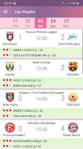 Lite Predict - Football Prediction Tips Version 4.1 Wing screenshots 1