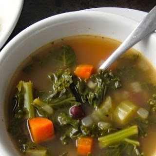 Kale and Kidney Bean Soup.