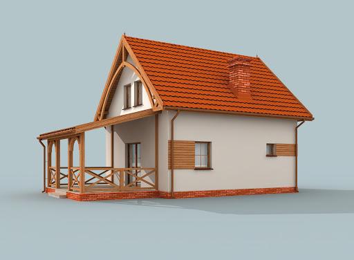 projekt Orlean 3 dom letniskowy z poddaszem szkielet drewniany