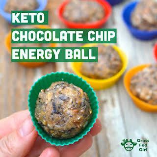 Keto Chocolate Chip Energy Ball Recipe (low carb, paleo, gluten free, vegan, nut free).