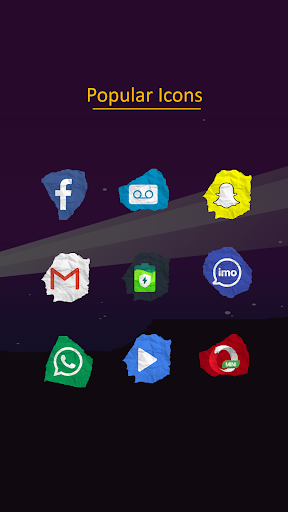 Paper Icon Pack Apps for Android screenshot