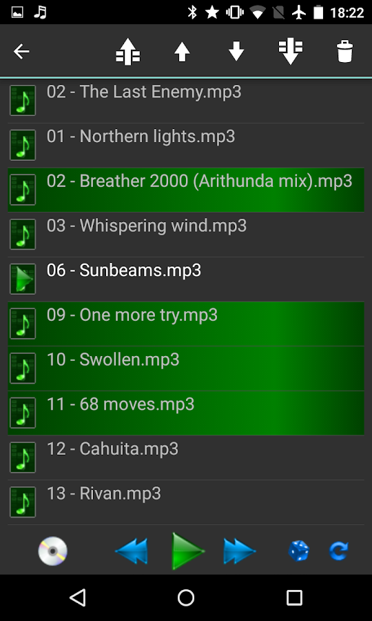 Samba Network Music Player- screenshot