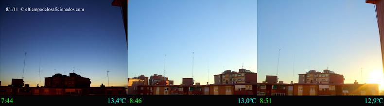 Photo: Amanecer del día 8/01/11
