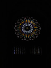 Photo: The Cathedral's rose window.