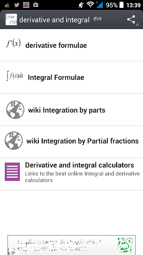 Derivative and Integral EVA