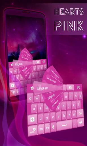 ハーツピンクのキーボード