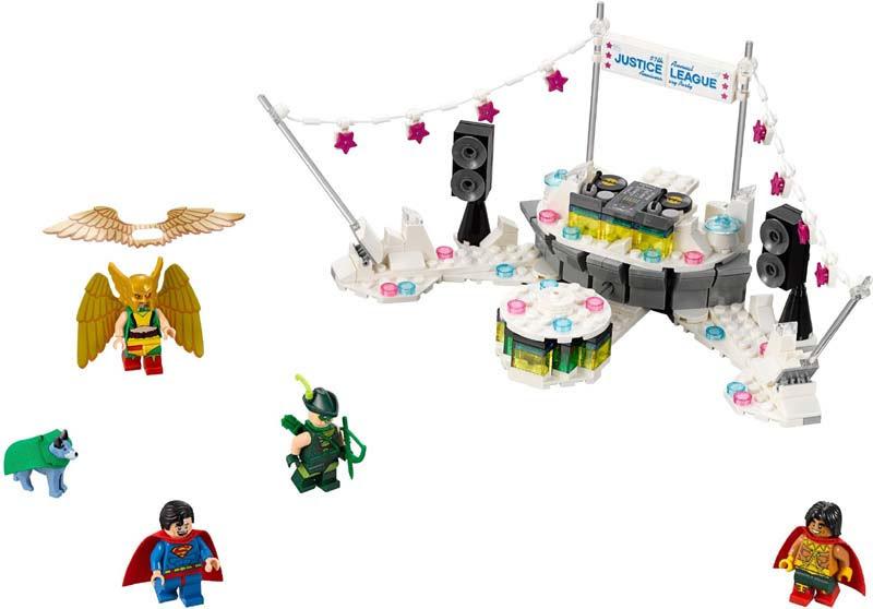 Contenido de Lego® 70919 Fiesta de Aniversario de la Liga de la Justicia
