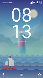 Cloudy Lighthouse ND Xperia Theme - náhled