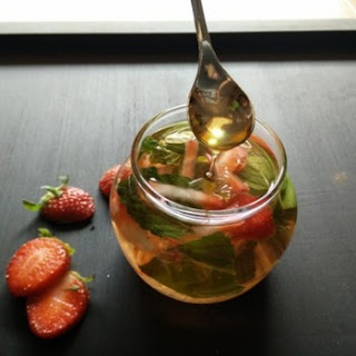 Strawberry Detox Drink.