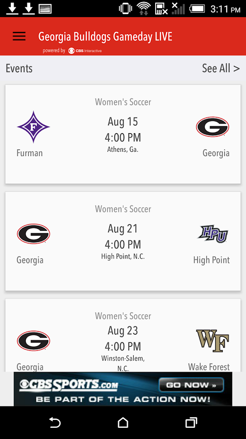 Georgia Bulldogs Gameday LIVE- screenshot