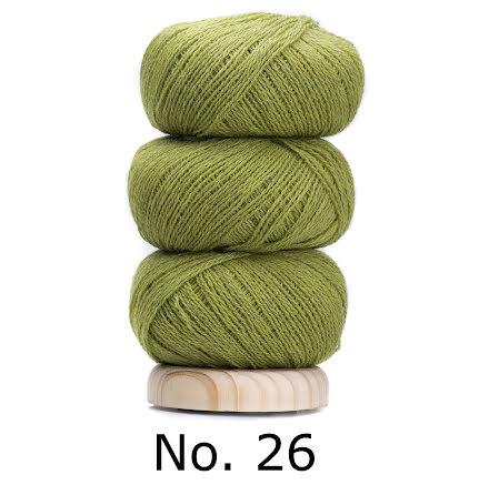 Geilsk Tunn Ull äppelgrön 26