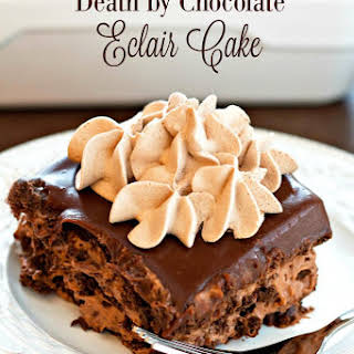 Death By Chocolate Eclair Cake.