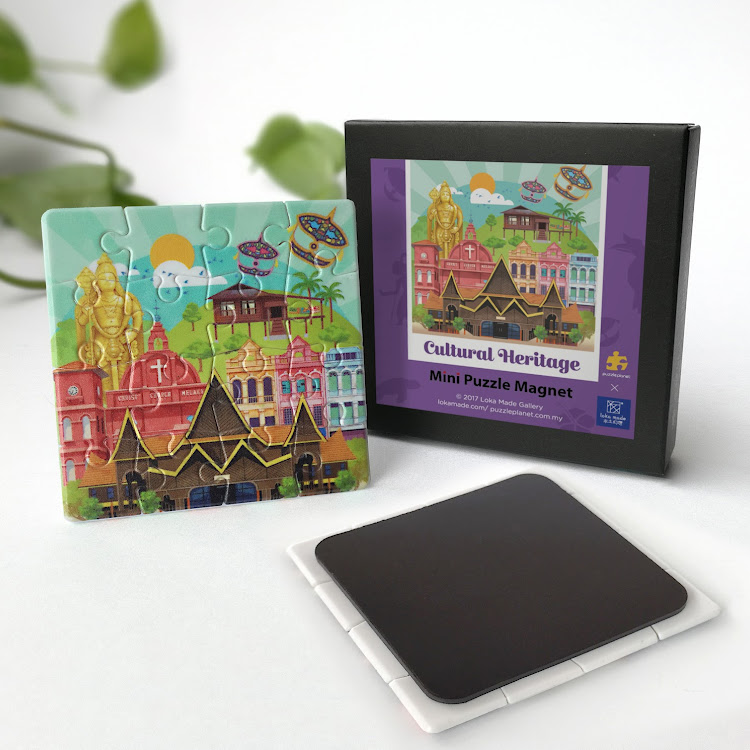 Mini Puzzle Magnet: Cultural Heritage by Loka Made