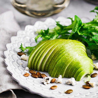Pear Salad with Blue Cheese Dressing.