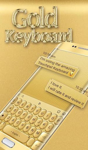 3D Gold Keyboard Theme screenshots 2