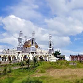 Mosque by Agus Mahmuda - Buildings & Architecture Architectural Detail ( mosque, public, miniature, masjid, building, landscape, architecture, home )