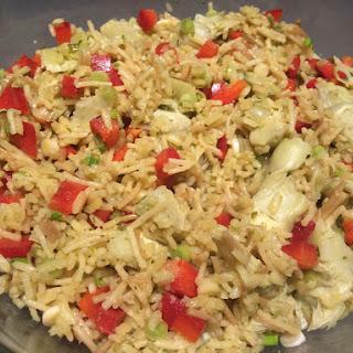 Artichoke Rice-a-Roni Salad (Vegan)