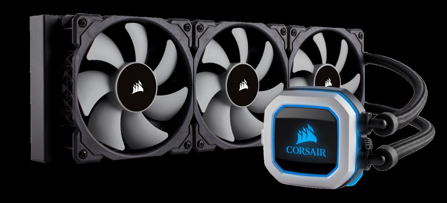 Corsair Hydro Series, H150i PRO RGB, 360mm. 3 X 120mm ML PWM Fans, Advanced  RGB Lighting & Fan Control w/ Software. Liquid CPU Cooler. CW-9060031-WW.  Support: Intel 2066, AMD AM4. - Newegg.com