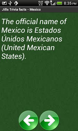 Jill's Trivia facts: Mexico